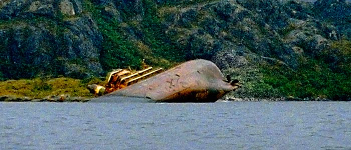 ship wreck in patagonia